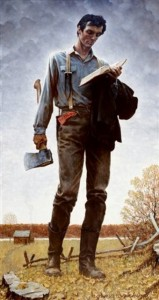 Rockwell_Norman_Lincoln_the_Railsplitter_1965